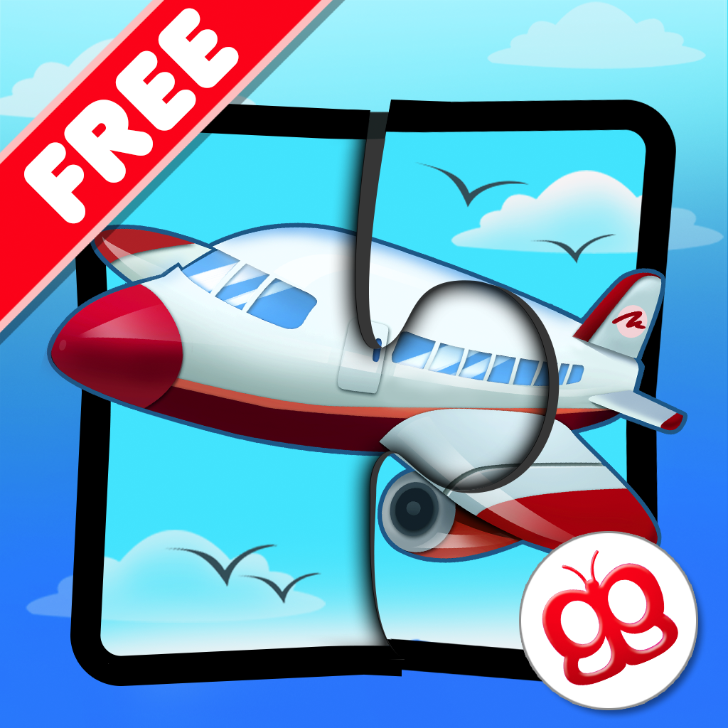 Transport Jigsaw Puzzles 123 Free for iPad - Fun Learning Puzzle Game for Kids